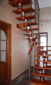 Stairs wooden CORA model Moreno 180 Vertical U-180 12 elements