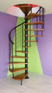 Stairs winding CORA model Bavaria 140 cm